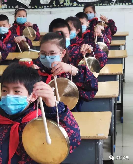 文明实践·时代新风 非遗文化进校园 淮海锣鼓话文明